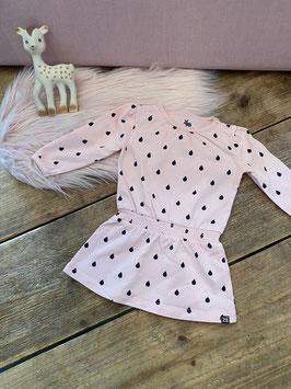 Roze jurkje met druppels van Z8 maat 62