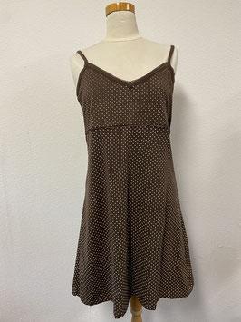 Nieuw! Bruin gestippeld jurkje van KSG Wear maat XL