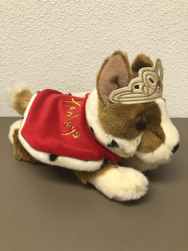 Stoere hond als prinses van Hamleys