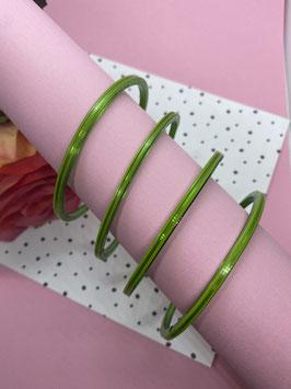 Felgroene armbanden -  4 stuks