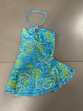 Strapless jurkje in mooie groentinten van Claesens Maat 98