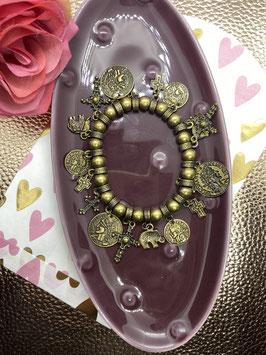 bronze bedel armband