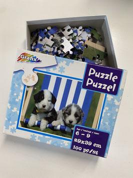 Honden puzzel met 100 stukjes