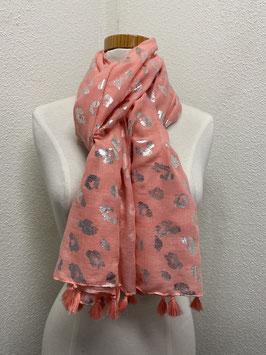 Nieuw: Sjaal 'Shiney Leo print' in roze