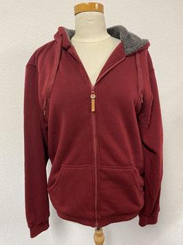 Lekker warm vest in het donkerrood maat XL