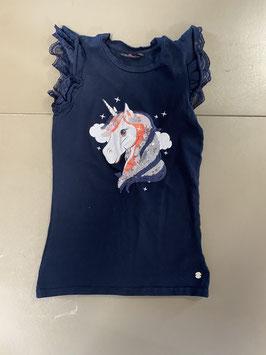 Zwart jurkje met unicorm van Persival Maat 134