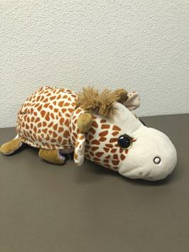 Dubbele knuffel: Giraffe en unicorn