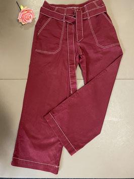 Bordeaux rode broek van Yessica by C&A in maat 38/40