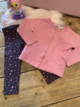 Roze vest van Knot so Bad en legging van C&A maat 92
