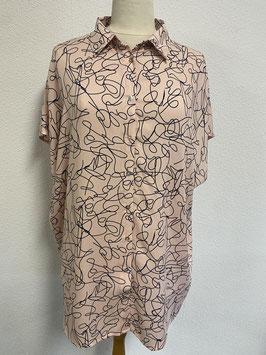 Speelse roze blouse in maat 46/48