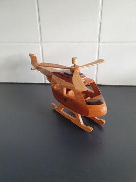 Houten model helikopter van 25 cm