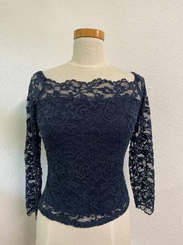 Kanten shirt met blote schouders van Vera Mode Maat S