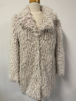 Warme ''fluffy'' jas van MS Mode maat 40