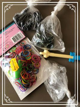 Loom elastiekjes om armbandjes te maken