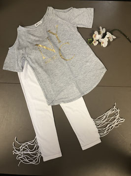 Stoer shirt van H&M met leuke legging in maat 146/152