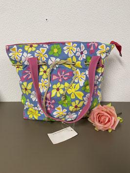 Mooie grote gebloemde tas in vrolijke kleuren