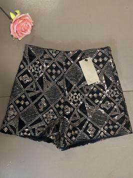 Nieuw! Short met paillettten van Zara Basic in maat M