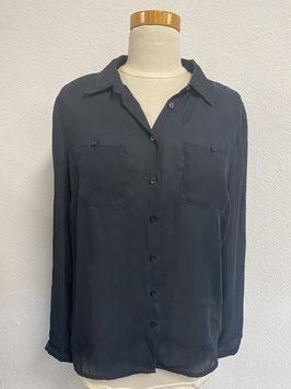 Mooie zwarte doorschijnende blouse Maat L