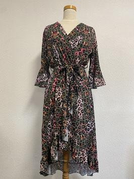 Zomerse jurk met panterprint Maat S