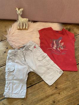 Roze shirt van Mexx en broekje van BFC in maat 74