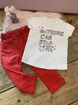 Leuk shirt van H&M en broek van Zara Baby maat 86
