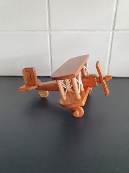 Houten model vliegtuig van 16.5 cm