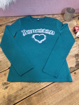 Turquoise trui van het Merk - Benetton - Maat 158