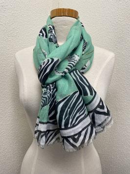 Nieuw: sjaal 'Summer scarf zebra' in groen