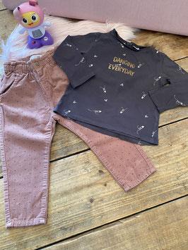 Shirt en broekje van Zara Baby maat 92