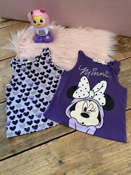 2 leuke hemdjes Minnie Mouse van H&M maat 92
