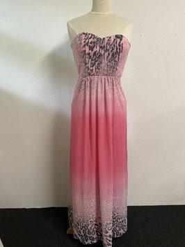 Strapless jurk in roze tinten van Jane Norman Maat XS