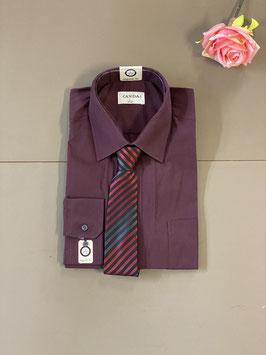 Nieuw! Donkerrode blouse met stropdas van C&A maat L/41-42