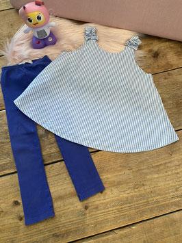 Leuk jurkje van Zara met legging van Fits for Kids in maat 98