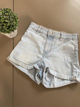 Korte spijkerbroek high wast Maat 36