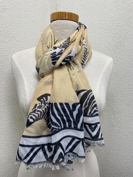 Nieuw: Sjaal 'Summer scarf Zebra' in beige