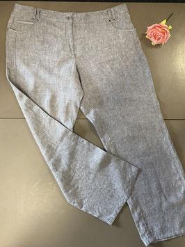 Grijze linnen broek van C&A in maat 46