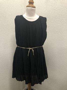 Zwarte feestelijke jurk van Hema in maat 146/152