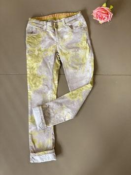 Gave gevlekte broek van het merk Girls in maat 128