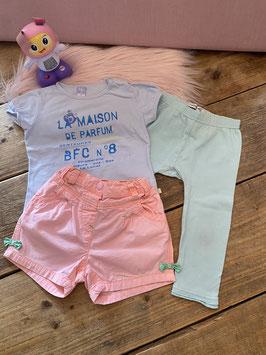 Shirt van BFC met legging van Noppies en broekje van Baby Club by C&A maat 86