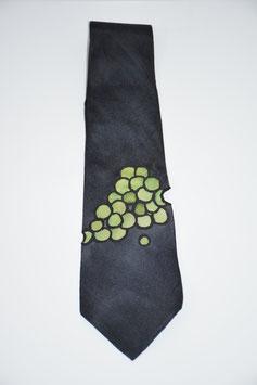 Krawatte mit Weintrauben in Anthrazit