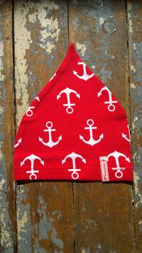 Jerseymütze Anker rot