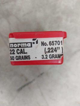 Ogive cal. 22 - .224 - 50 grani - 3.2 gr. - n. 100 (##)
