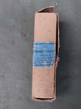 Scatola pacchetto  porta munizioni Tedesca P08 - P38 - MP marchi 1943 - ww2 (##)