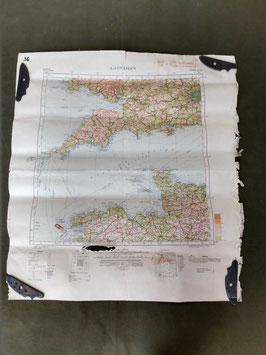 Carta Geografica TEDESCA Mappa LONDRA GB - ww2 (##)