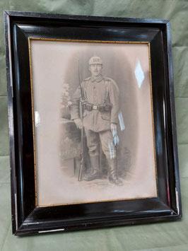 Fotografia Stampa Militare Soldato Tedesco  ww1