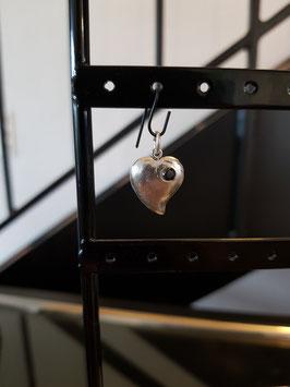 Kettenanhänger Herz gebogen mit Stein