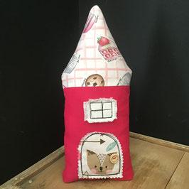 Maisonnette tissu rose et imprimé petits gâteaux - Jade 2
