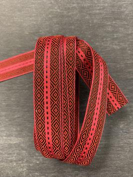 Ripsband rot schwarz