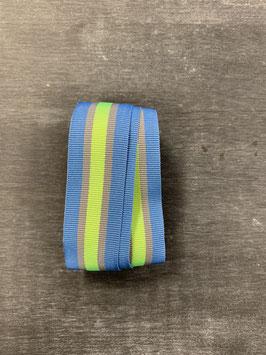 Ripsband hellblau grau neongrün