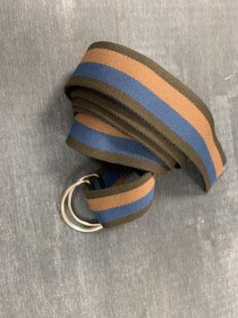 Gürtelpäckchen in braun-blau-silber